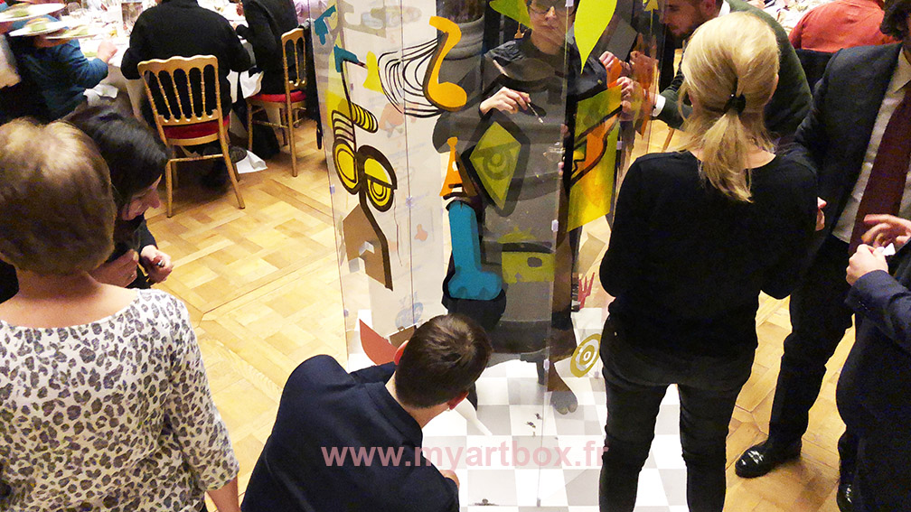 team building dessin