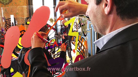 team building fresque a colorier