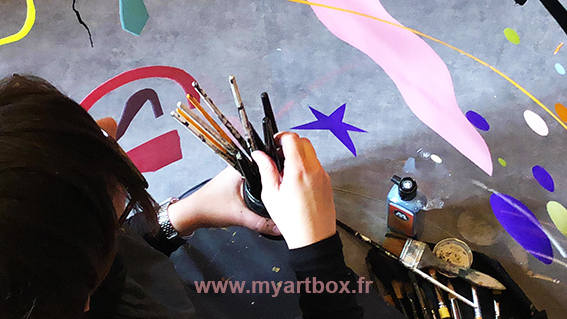 team building graffeur